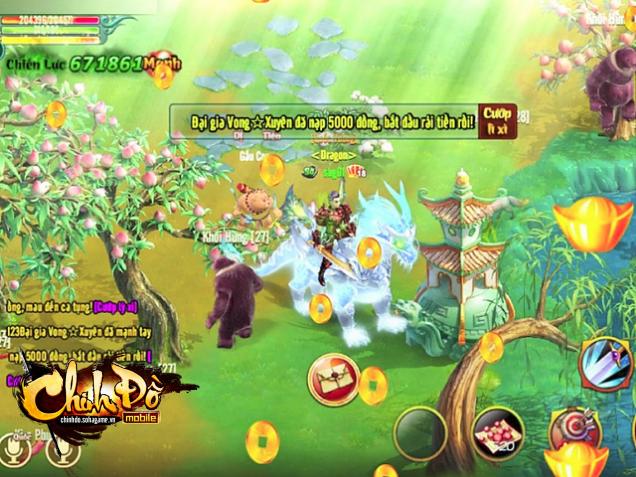 Game online này cho phép bạn trở thành một soái ca đúng nghĩa bằng cách vung tiền lì xì, tặng hoa cho toàn server.