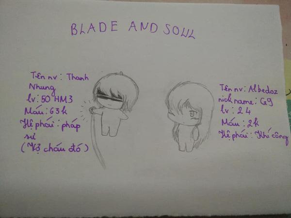 Cô nàng game thủ mê Blade and Soul vẽ hẳn bộ truyện tranh siêu dễ thương